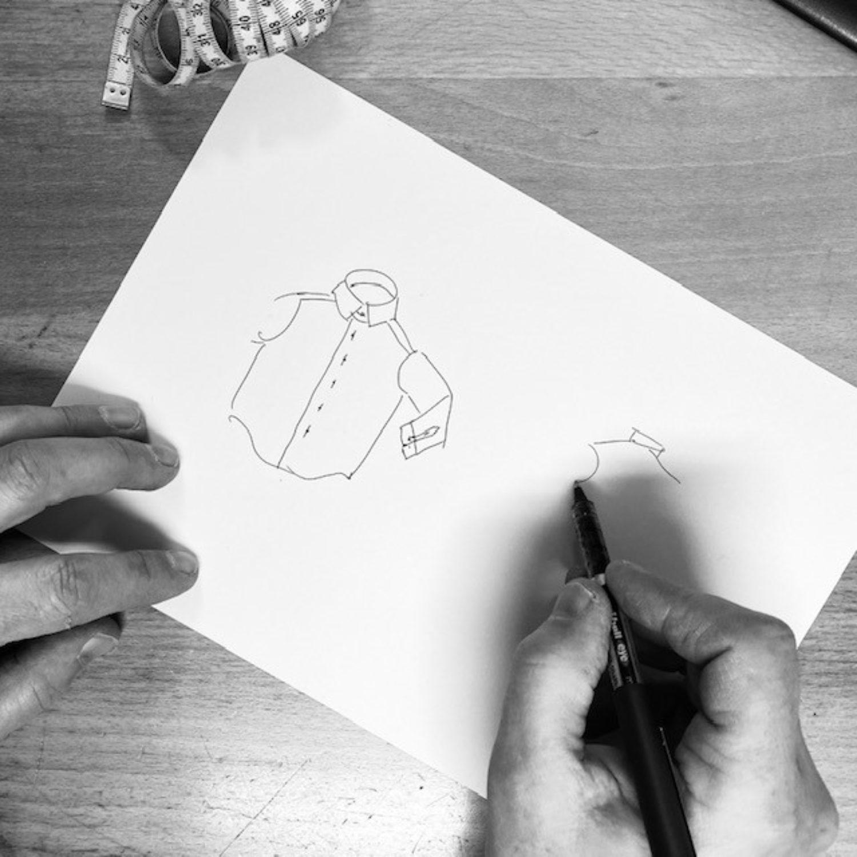 Abel tekenend mono vierkant
